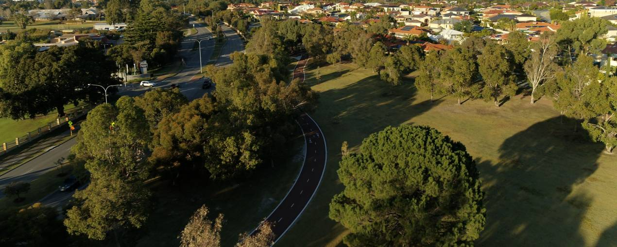 Aerial image of Murdoch Shared Path