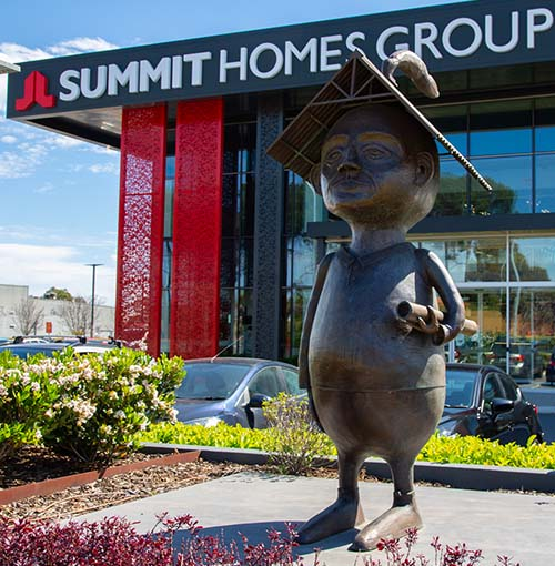 'We are Built Around People' by Stormie Mills. Commissioned by Summit Homes. Budget: $150,000.